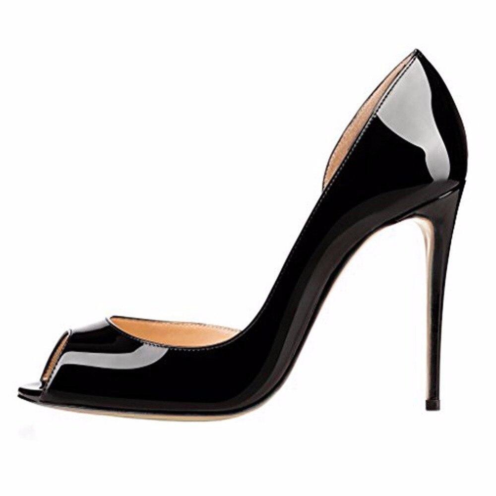 ФОТО Inisastyle 2016 frauen pumps women shoes ladies stiletto high heel peep toe two-tone Summer sandalia patent leather big size4-15