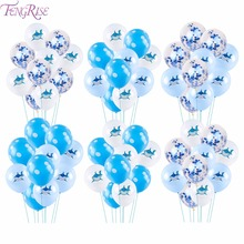 FengRise 10pcs Shark Birthday Balloons Foil Latex Balloons Birthday Party Decorations Kids Baloons Baby Shower Kids Party Favors цена