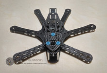 DIY FPV mini QAV230 cross racing drone hexacopter RD230 pure carbon fiber frame