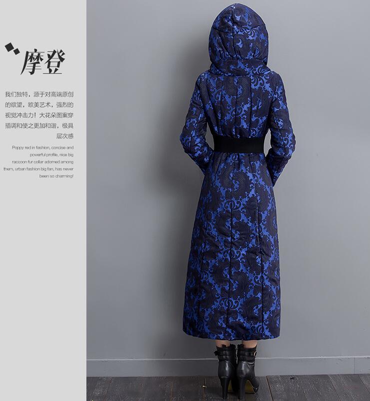 Chaud Épais Coton Veste Blue Hiver La Manteau À 2018 Féminine Parcs Longue W257 Pour Haute De Qualité Femme Femmes Capuchon Mode TqxUwqEC