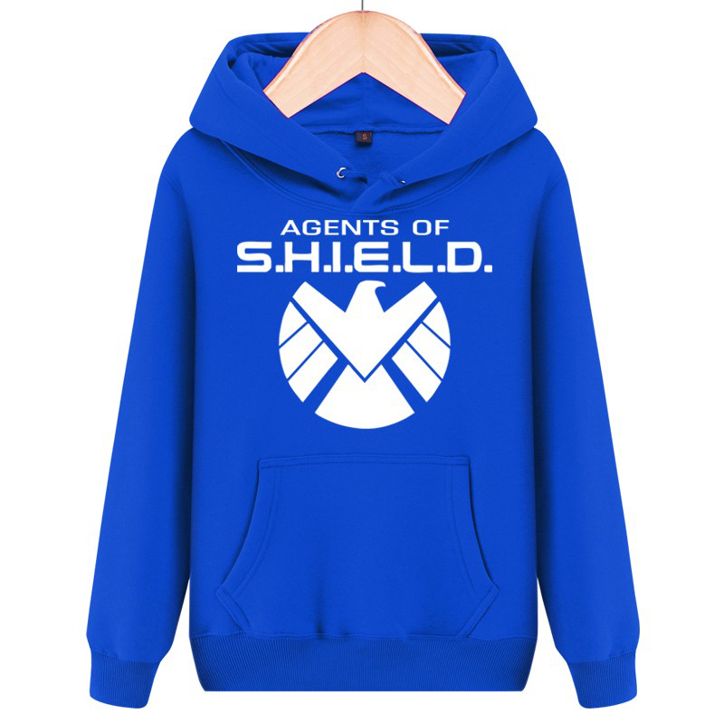 Agents of S.H.I.E.L.D. sweatshirts pocket pullover sudaderas Marvel Agents of Shield hoodies Unisex coat 7 Color