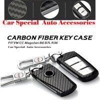Hot Selling Auto Key Case Carbon Fiber Car Key Case Chain For VW CC Magotan B6