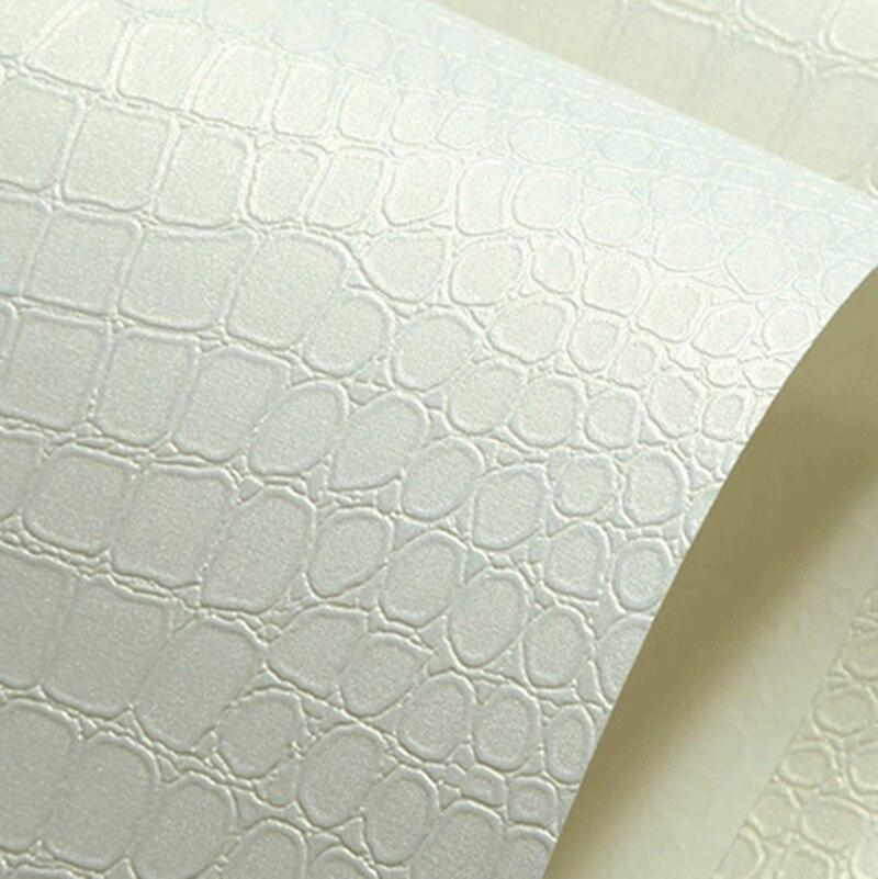 faux krokodilleder leder modernes muster 3d wallpaper fr wand rollen wei textur glitter vinyl tapeten papel wandbekleidung - Muster Fur Wand
