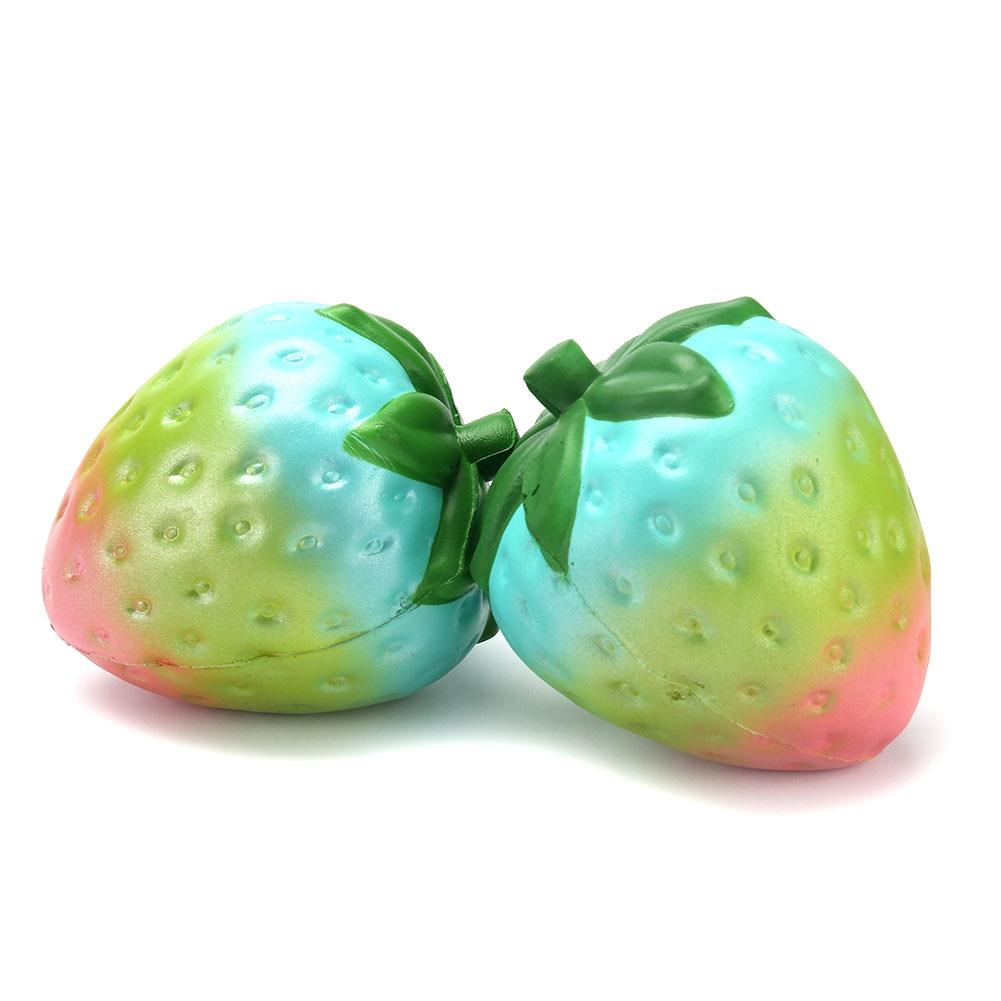 New Kawaii Colorful Simulation Strawberry Squishy Slow Rising Cute Kid Fun Toy