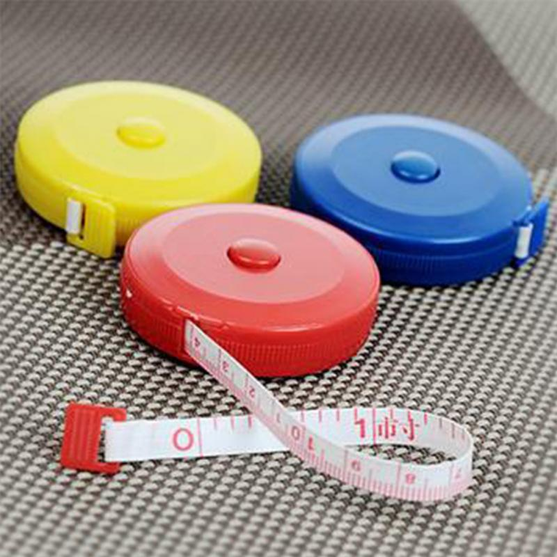 Portable 1.5m Retractable Ruler Centimeter Tape Measure Mini Colorful Cute Design