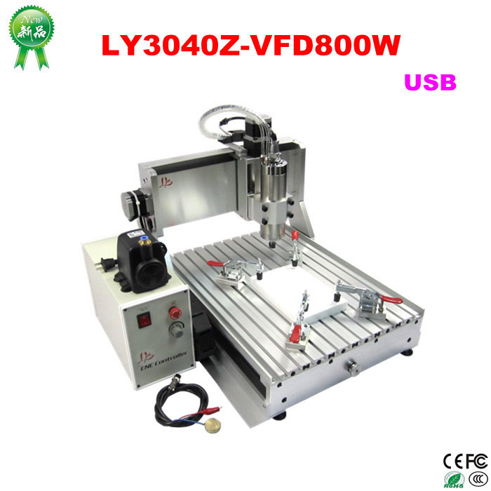 CNC Router wood milling Machine CNC 3040Z-VFD800W 3axis USB for wood working with ball screw 2 2kw 3 axis cnc router 6040 z vfd cnc milling machine with ball screw for wood stone aluminum bronze pcb russia free tax