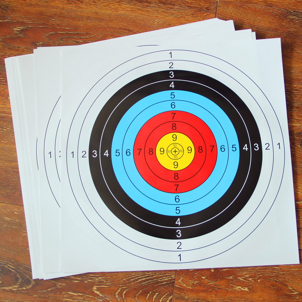 New Best  60cm*60cm  Archery Target Paper Standard Ring Single Spot Shooting Bow Archery Accessory Practice Training