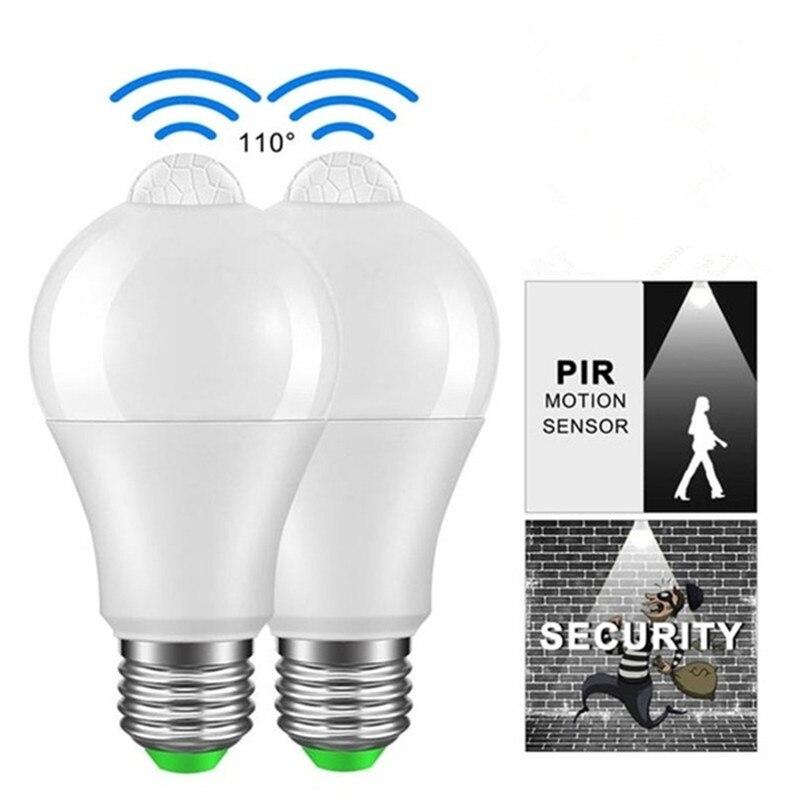 Pir Motion Sensor Led Bulb Lamps E27/B22 110v 220v Led Light Bulb Cold White Warm White 12w/18w Lampada Ampoule Bombilla Lamp