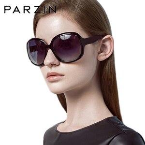 Image 5 - PARZIN lunettes de soleil pour femmes, lunettes de soleil, surdimensionnées, grande monture polarisées, noires, UV400, P6216