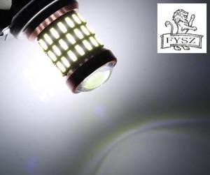 Image 5 - 2 uds., 1157 BA15D, 24V, bombillas de freno de decodificación para coche, 4014 60 SMD, para señal de giro de estacionamiento, luz lateral Super blanca