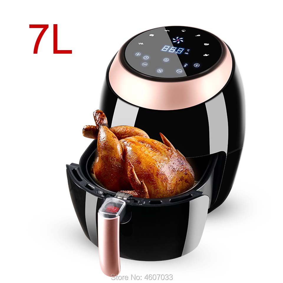 110v 7L Large Capacity Air Fryer Intelligent Automatic Electric Potato Chipper Household Multi-functional Oven No Smoke Oil
