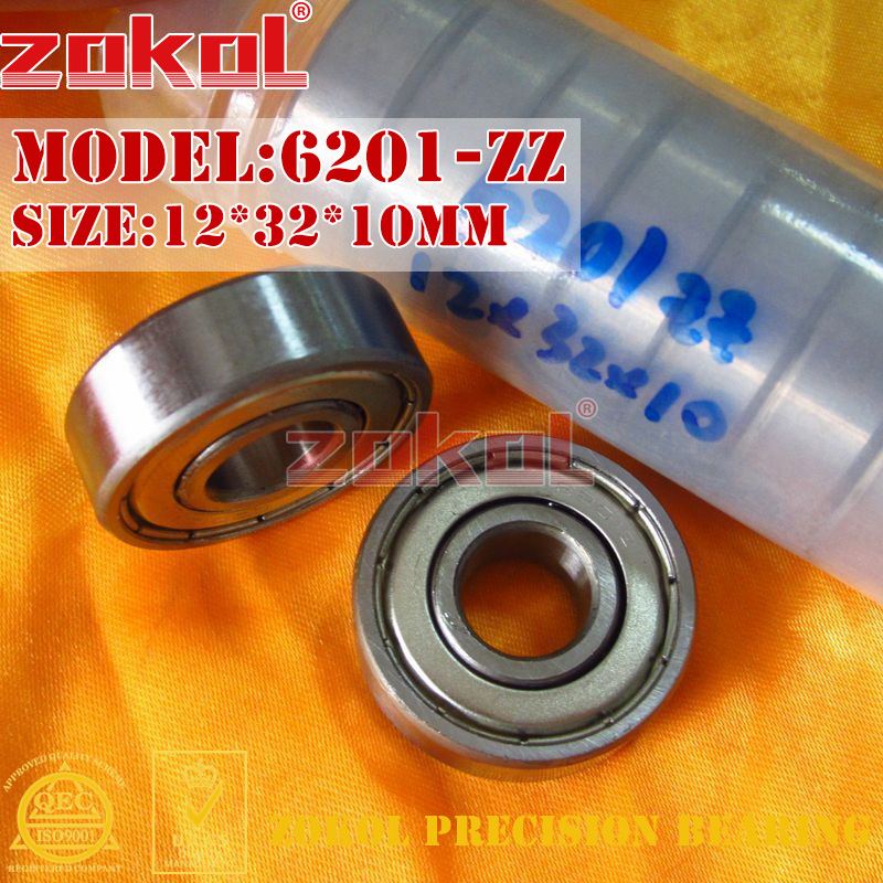 ZOKOL 6201ZZ Bearing 6201 RS S6201ZZ 6201 2RS RZ Z3V3 Z1 Deep Groove Ball Bearing 12*32*10mm