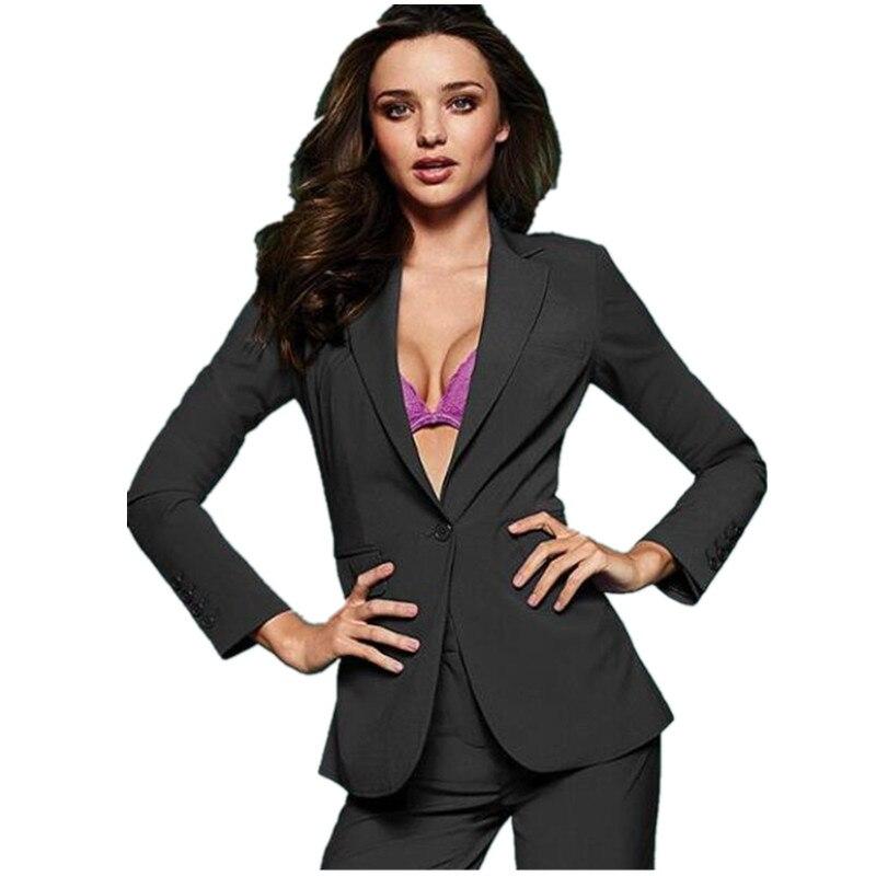(jacke + Pants) Neue 2 Stück Set Büro Uniform Designs Frauen Hosen Anzüge Einreiher Weiblichen Business-anzügen Maß W86 Zu Hohes Ansehen Zu Hause Und Im Ausland GenießEn