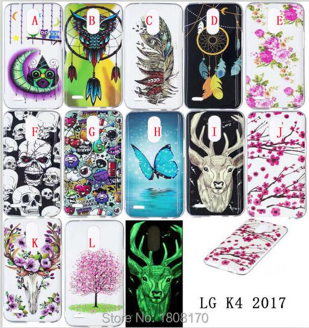 Bling Glow in dark Flower Tree Owl TPU Soft Case For LG K4 K8 K10 2017 G6 Huawei 6S P10 PLUS Y5 2017 ZTE Z981 Skull Skin 100pcs