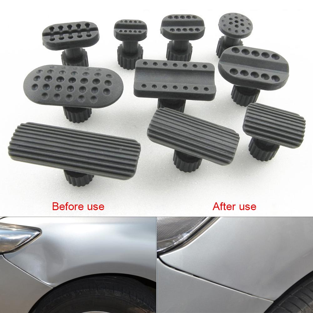 10pcs Repairing Dent Car Body Damage Correction Tool Pulling Bridge Extractor Dent Removal Gaskets Dent Puller Suction Cup