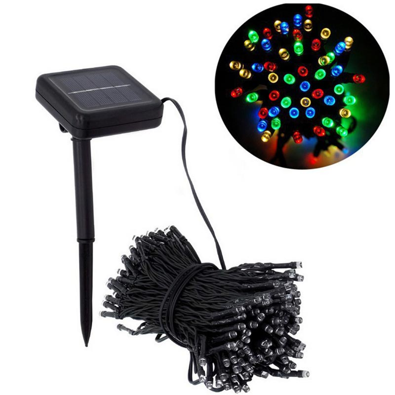 100 LED Outdoor Solar String Lights For Christmas Party Waterproof Fairy Garden Holiday Lamps Festival Decorative Patio Lights
