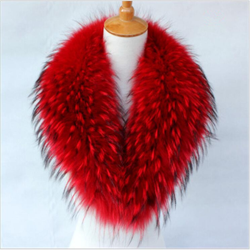 NEW Real Raccoon fur Collar for Coat Jacket Autumn Winter Warm Fur Scarf Shawl for Outerwear Coat Super Fur Collar PM55 недорго, оригинальная цена