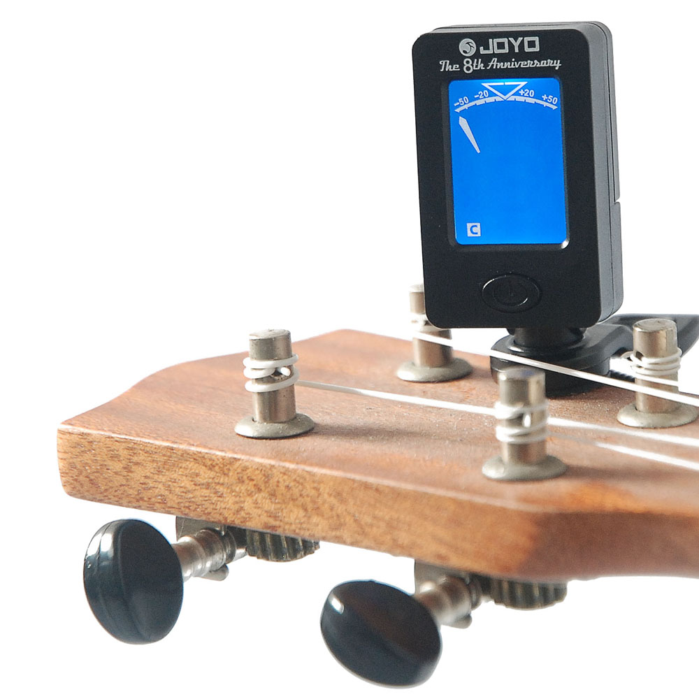 JOYO Mini Rotatable Guitar Tuner Digital LCD Clip-on 360 Degree Tuning Machines For Guitar Bass Violin Ukulele