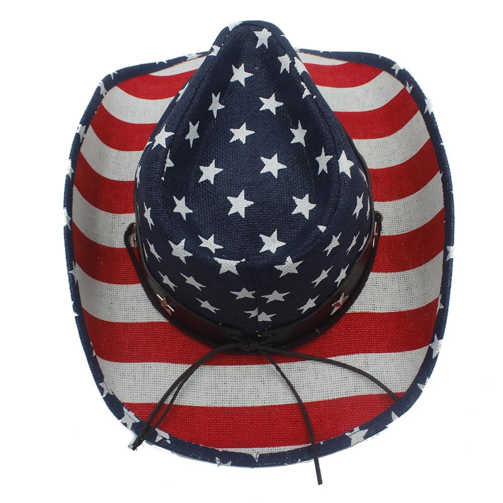 eb7e2b03ed6 Men Straw Cowboy Hat For Dad Western Sombrero Hombre Cowboy Caps ...