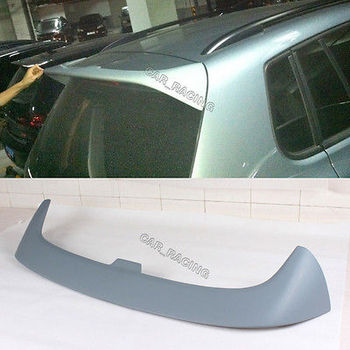 Rear Roof Spoiler Top Wing Lip For Volkswagen VW Tiguan 2013-2016 Fiberglass Unpainted Grey