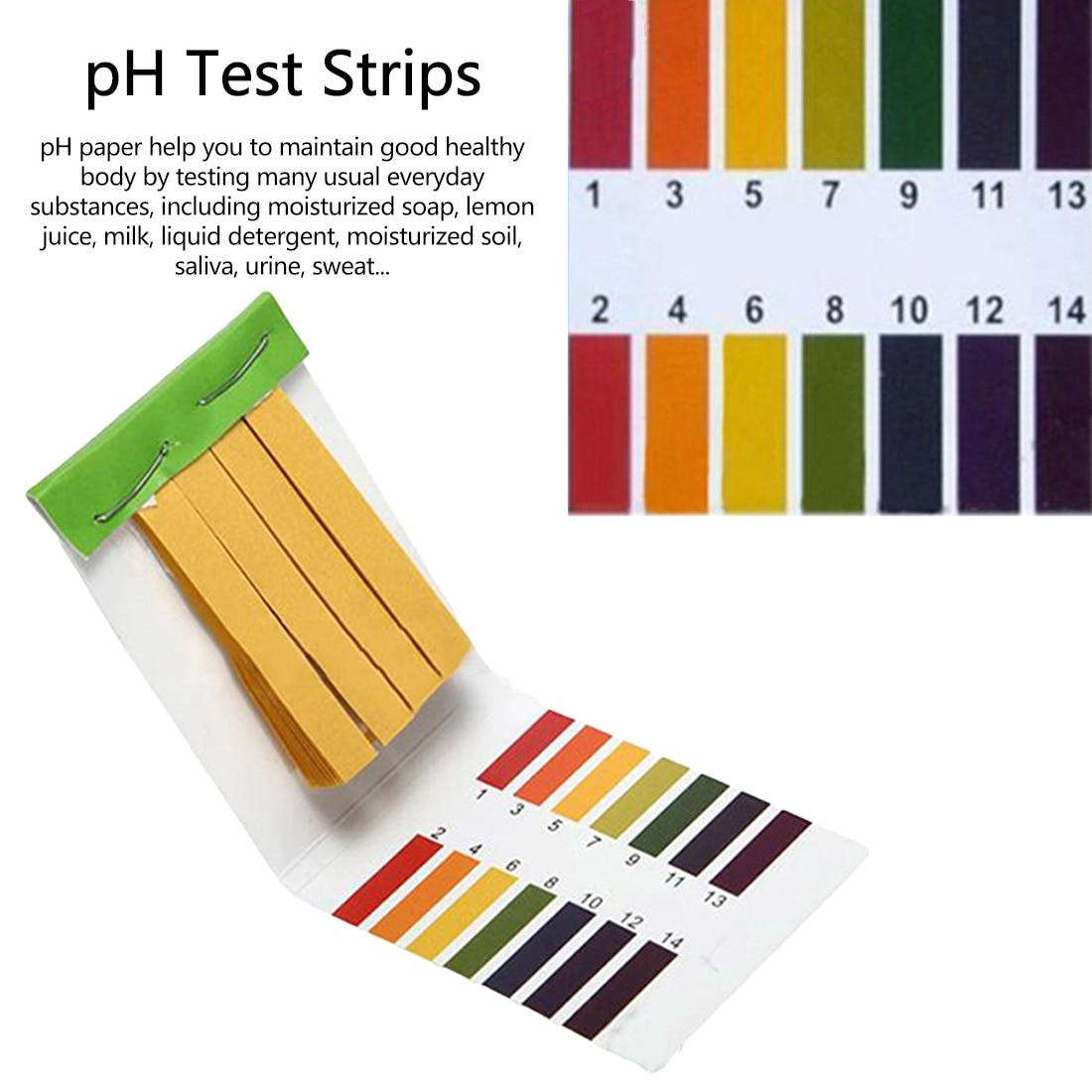 80 Strips/pack PH Test Strips Full PH Meter PH Controller 1-14st Indicator Litmus Paper Water Soil Sting Kit
