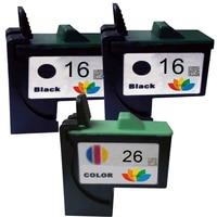 3 pk kompatibel 16 26 tintenpatrone 10n0016 10n0026 für lexmark x74 x75 x1185 x1100 x1110 x1130 x1150 x1270 x1195 x1240 drucker