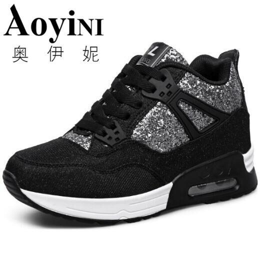 d83696d99 Aliexpress.com: Compre Tenis Feminino Fashion 2017 Wedges High Heels Ladies  Casual Shoes Women Lace up Platform Height Increasing Canvas Shoes Woman de  ...