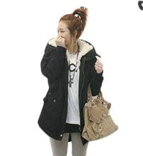 Good quality women cotton Berber Fleece Jacket Coat Europe Style Fashion Casual Outwear Coat Plus Size Down Parkas ML-06101F