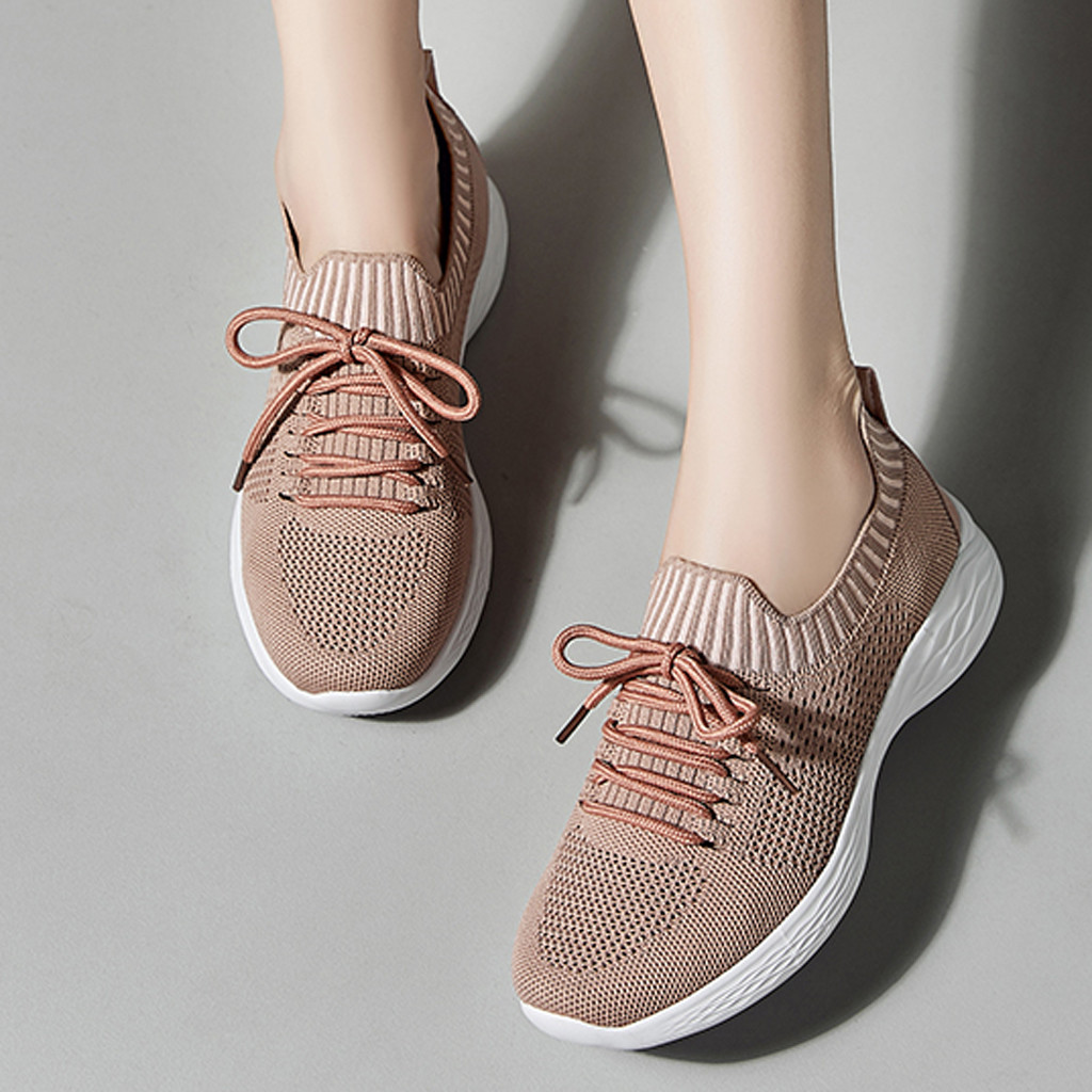 2019 Women Sneakers Lightweight Shoes Mesh Sneakers Women Summer Breathable Flat Shoes Women Plus Size Loafers Walking Flat