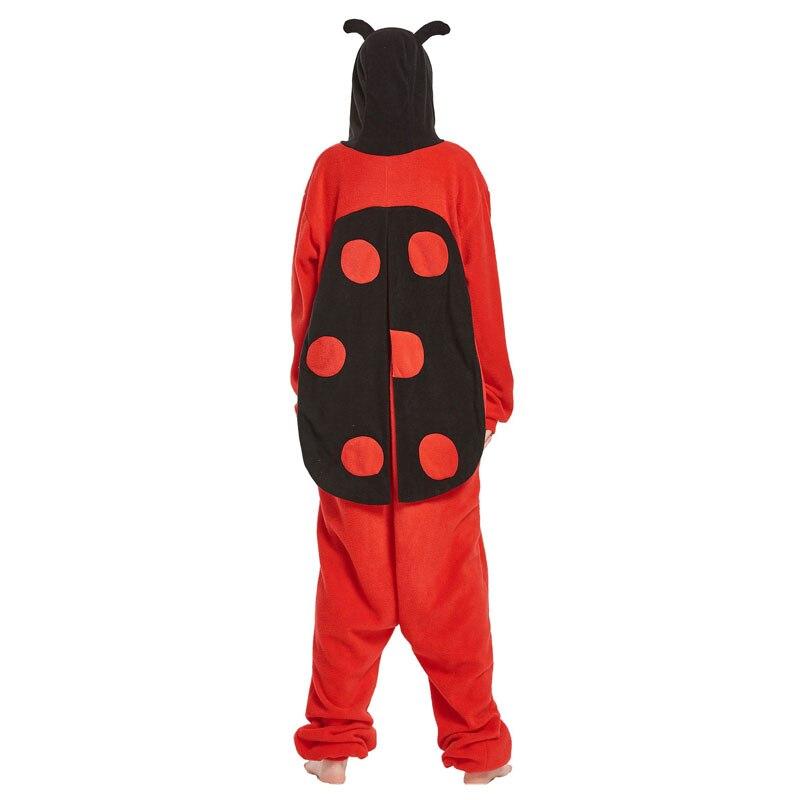 Adult Onesie Ladybug Costume Animal Pajama Men Women Funny Overalls Cartoon Ladybird With Wing Party Jumpsuit Winter Warm Suit