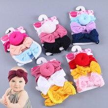 Милая Детская повязка на голову для маленьких девочек, модная Милая повязка на голову для ребенка эластичная повязка для головы, Мягкая повязка на полову, для детей