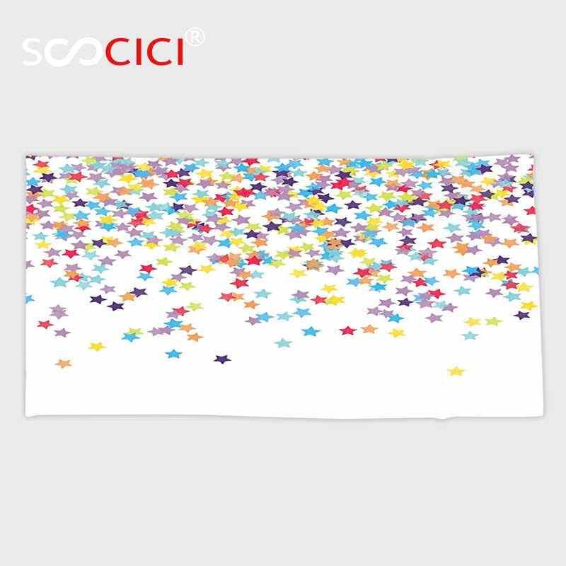 Microfibra personalizzata Ultra Morbido Bagno/asciugamano, Casa Decor Collection Falling Star A Forma di Coriandoli Compleanno Anniversario Sorpresa