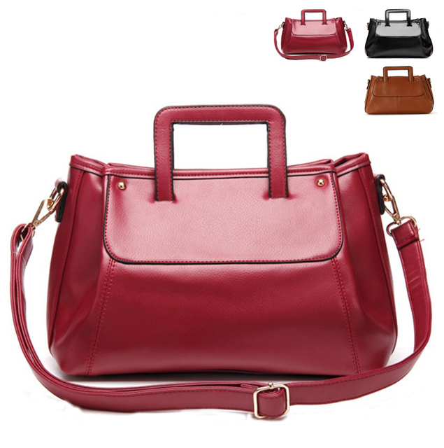 2013 fashion vintage messenger bag one shoulder bag cross-body small Wine red handbag