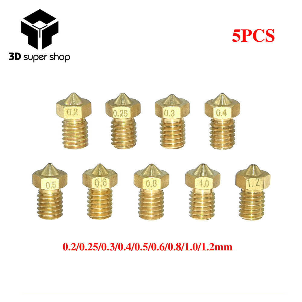 5 Pcs Extruder Nozzle for 3D Pinter for Filament Size 1.75mm 3d Printer Accessories Brass 0.8mm 3D Printing & Scanning 3D Printer Parts & Accessories