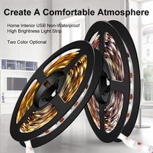 Led Light Strip USB 5V Lamp Tape TV Backlight Lighting Neon Ribbon 5M Under Cabinet Lights Flexible Ledstrip