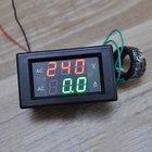 2018 New Car Ammeter Dual LED Digital Amp Volt Meter Gauge Voltage Meters AC 500V 50A Digital Voltmeter