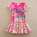 Hot Style Summer Cartoon Pony Printing 2 Colors Cotton Girls dress Painting color Baby Dress Girls Clothes For 2-7years Old