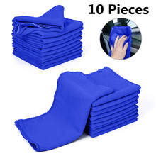 10pc Motorcycles Car Wash Towel Soft Cleaning Care Detailing Cloths Duster 9.84 x 9.84Inch Automobiles