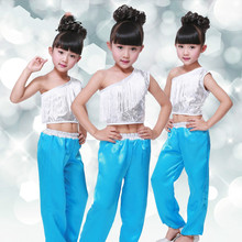 Children Costume Girls Dance Costume Jazz Latin 2 Pcs for Girls Stage & Dance Wear Ballroom Dresses