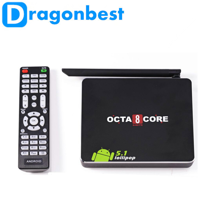 ФОТО 10pcs Newest CSA90 Android 5.1LOLLIPOP Tv Box rk3368 Octa core support google Play & APK install 1G8G