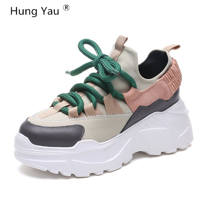 Hung Yau Fashion Women Casual Shoes Suede Leather Platform Shoes Women Sneakers Ladies White Trainers chaussure femme Size 35-40 winter women casual shoes suede platform plus velvet shoes women keep warm sneakers ladies white trainers chaussure femme c340