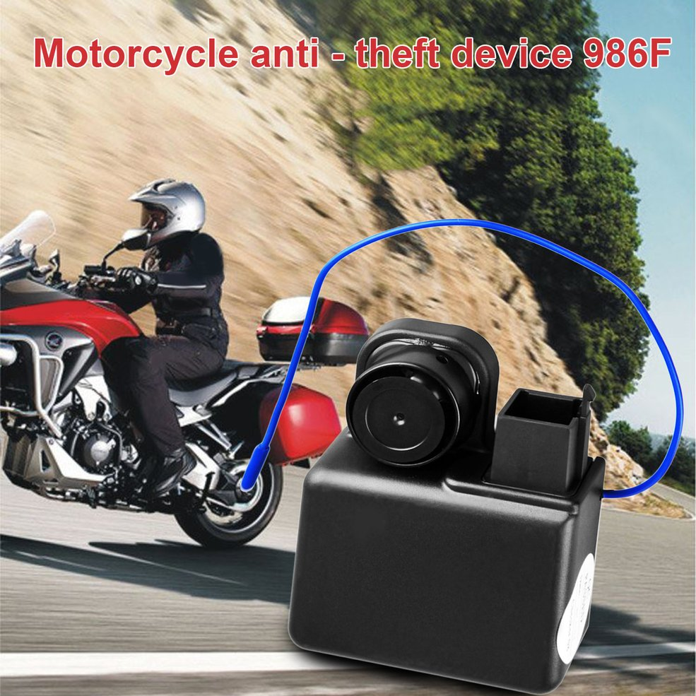 986F 1 Way Motorcycle Alarm System Remote Engine Start Motorcycle Engine Immobilization With Transmitter Anti-theft Waterproof