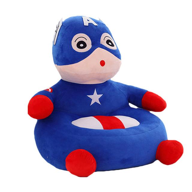 Venda quente Da Criança Do Bebê Da Novidade Crianças Adorável Superman Herói Padrão Beanbag Cadeira Do Sofá Assentos Crianças Dormindo Cama de Alta Qualidade