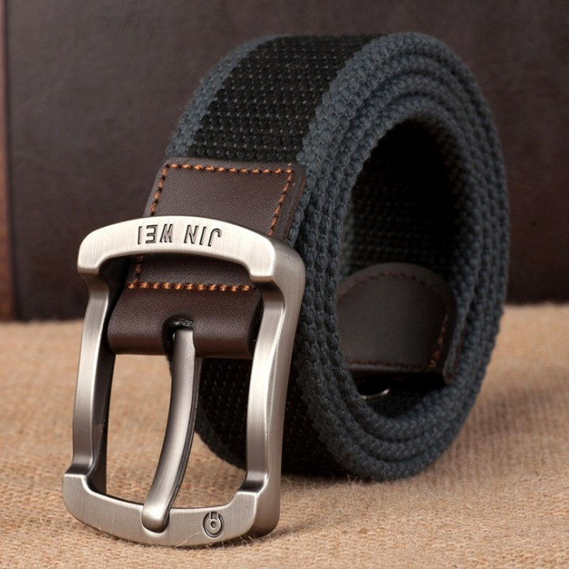 Военный ремень с пряжкой для спорта на открытом воздухе, тактический ремень для мужчин и женщин, высококачественные холщовые ремни для джинсов, мужские роскошные повседневные ремни - Цвет: Black wide stripe