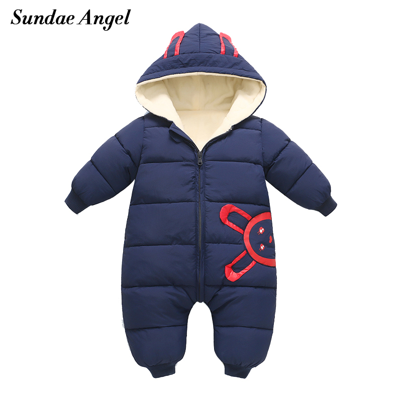 Sundae Angel Baby Rompers Winter Baby Boy Girls Clothes Lambs Wool Cotton Newborn Toddler Clothes Infant Jumpsuits New Born Warm
