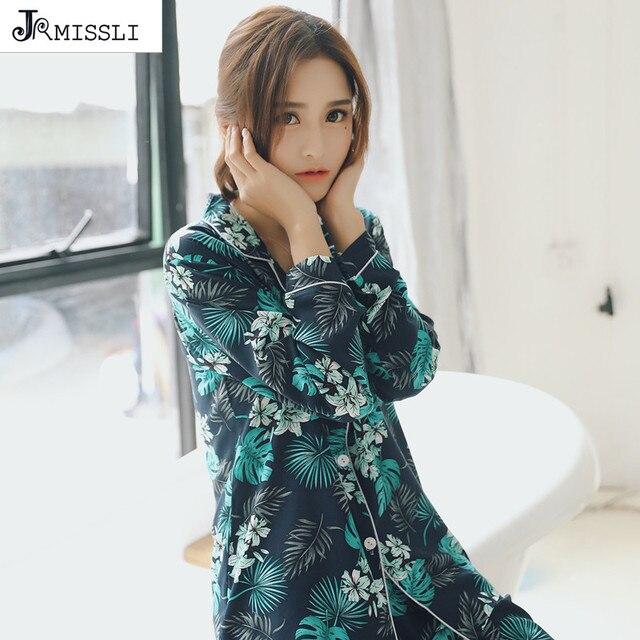 730bd9e4e734 € 26.36  Jrmissli 2018 primavera casual 100% algodón de manga larga mujeres  pijama establece cute Cartoon Pijamas Pijama Mujer en Conjuntos de ...