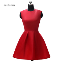 ruthshen Mother of the Bride Dress Short Mother Bridal Party Cocktail Dress 2019 Vestidos Casual Vintage Party Ladies Dresses