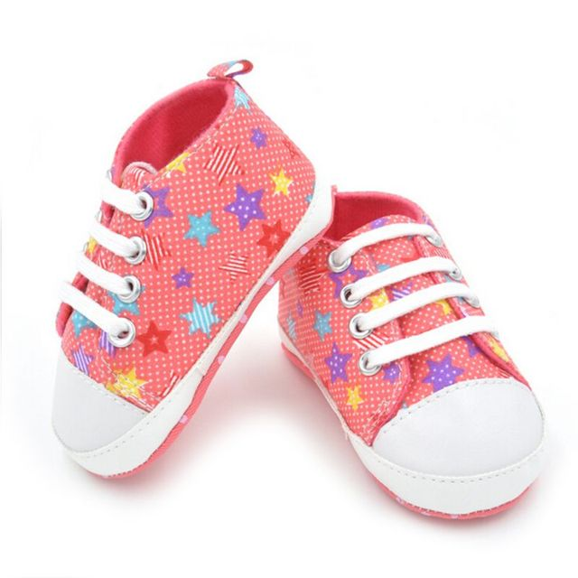 Fashion Baby Girls Boys Canvas Shoes Soft Prewalkers Casual Toddler Bhoes