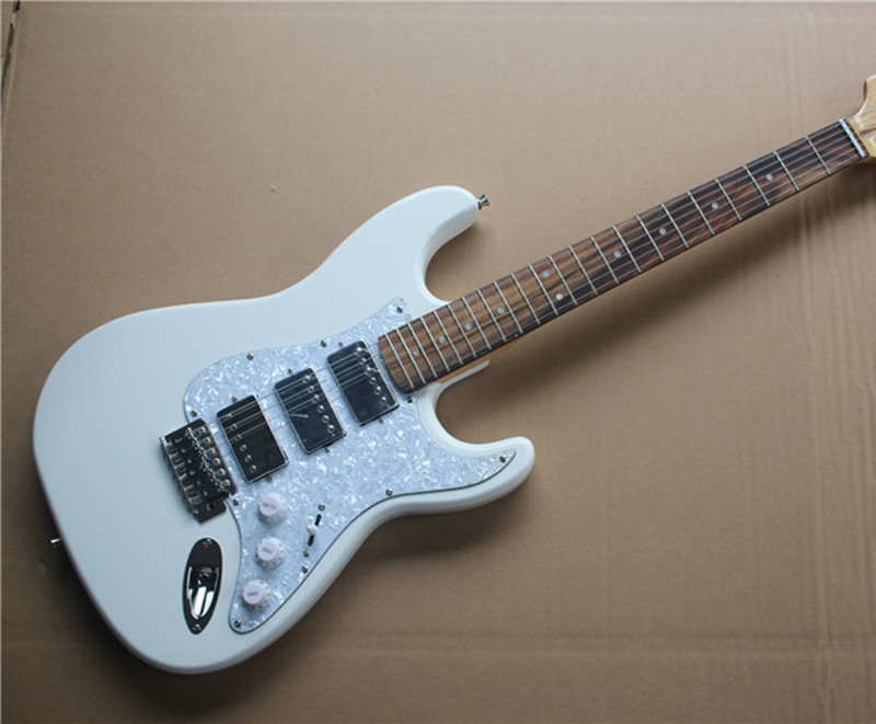 buy custom electric guitar white color body 3 pickups white pearl pickguard. Black Bedroom Furniture Sets. Home Design Ideas