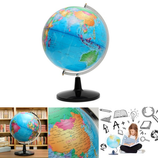 32cm big large rotating globe world map of earth geography school 32cm big large rotating globe world map of earth geography school educational tool home office ornament gumiabroncs Choice Image